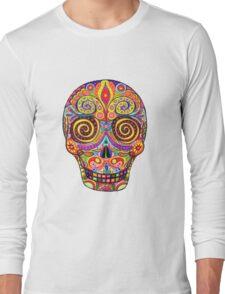 Sugar Skull Day of the Dead shirt Long Sleeve T-Shirt