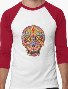 Sugar Skull Day of the Dead shirt Men's Baseball ¾ T-Shirt