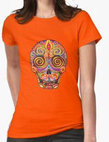 Sugar Skull Day of the Dead shirt Womens Fitted T-Shirt