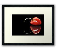Red Habanero Framed Print