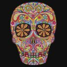 Dia de los Muertos Sugar Skull Shirt by Thaneeya McArdle