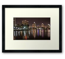 St. Petersburg Lights on Water Framed Print