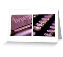 Imperial Diptych Greeting Card
