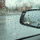 rain outside the window of the car by mrivserg