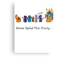 Never Split the Party Metal Print