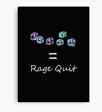 Rage Quit - Dark T's  Canvas Print