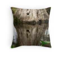Tree Reflection Throw Pillow
