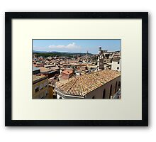 tiled roofs of the old town Framed Print