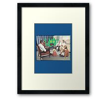 TV is Really Becoming Part of our Family! Framed Print