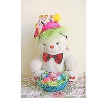Fatso Bear with an Easter basket Photographic Print
