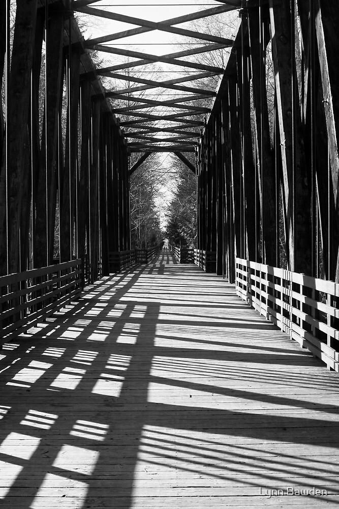 """""""Old Railroad Trestle"""" by Lynn Bawden"""