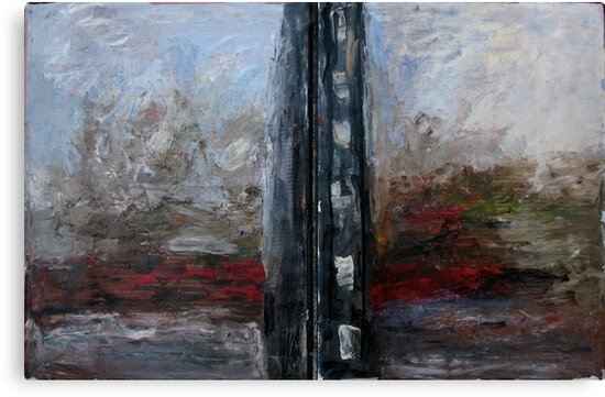 A river after black building by Stella  Shube As