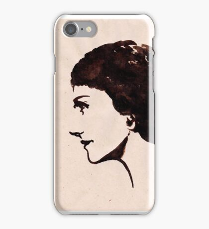 Gabrielle Chanel (Ink on paper) iPhone Case/Skin