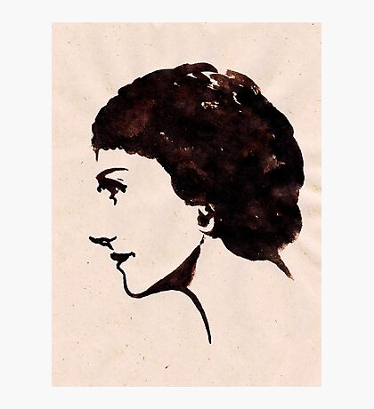 Gabrielle Chanel (Ink on paper) Photographic Print