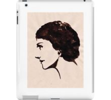 Gabrielle Chanel (Ink on paper) iPad Case/Skin