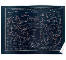 Atlas zu Alex V Humbolt's Cosmos 1851 0157 Water Map Inverted Poster