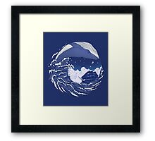 The great whale  Framed Print