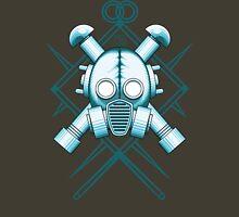 Tribal blue gasmask Unisex T-Shirt