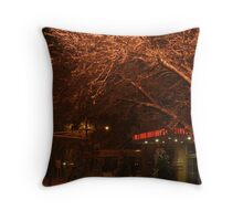 Silent Snow Throw Pillow
