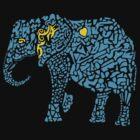 Blue Elephant by leprosa