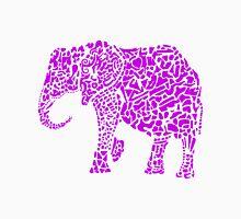 Purple Elephant Mens V-Neck T-Shirt