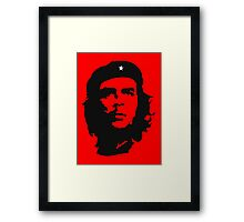 Che Guevara, Revolution, Marxist, Revolutionary, Cuba, Power to the people! Black on Red Framed Print
