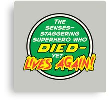 Comic Book Memories: Died Yet Lives Again! Canvas Print