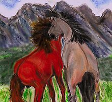 Mustangs by Dawn B Davies-McIninch