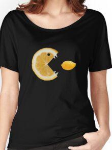 Funny Lemon Eats Lemon T-Shirt Women's Relaxed Fit T-Shirt
