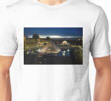 Paris - Louvre Pyramid at Night Unisex T-Shirt