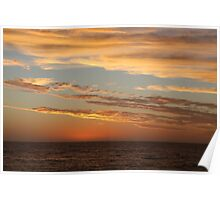 West Coast Sunset Poster