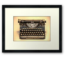 my underwood portable typewriter HDR Framed Print