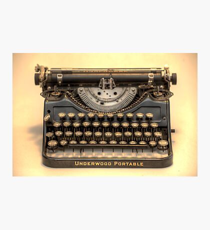 my underwood portable typewriter HDR Photographic Print