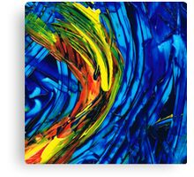 Colorful Abstract Art - Energy Flow 2 - By Sharon Cummings Canvas Print