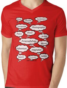 Red Bubble Artist T Shirt Mens V-Neck T-Shirt