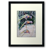 A great life - rainbow lorikeet Framed Print