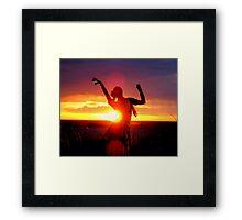 Dance Of A Dying Sun Framed Print