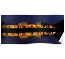Order in The House (Panoramic)- Old Parliament House, Canberra Australia - The HDR Experience Poster