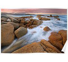 Rocky Shores - Bicheno Tasmania Poster
