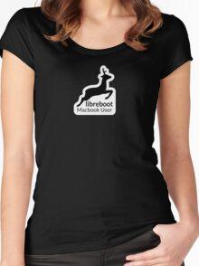 Libreboot Macbook User Women's Fitted Scoop T-Shirt