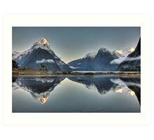 Sunrise over Mitre Peak - New Zealand Art Print