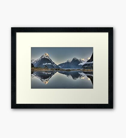 Sunrise over Mitre Peak - New Zealand Framed Print