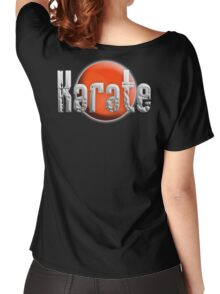 Karate Kid, Karate, Empty Hand, Martial Art, on Black Women's Relaxed Fit T-Shirt