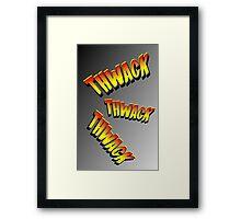Cartoon THWACK by Chillee Wilson Framed Print
