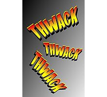 Cartoon THWACK by Chillee Wilson Photographic Print