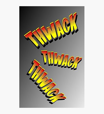 Cartoon THWACK by Chillee Wilson Photographic Print