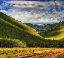 Light In The Mountain Valley by John  De Bord Photography