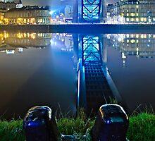 Below the Tyne Bridge - Newcastle upon Tyne by David Lewins