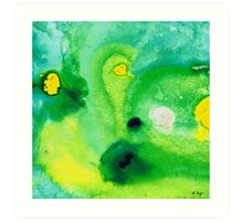 Green Abstract Art - Life Pools - By Sharon Cummings Art Print