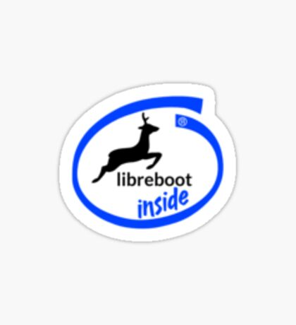 Libreboot Inside (Text) Sticker